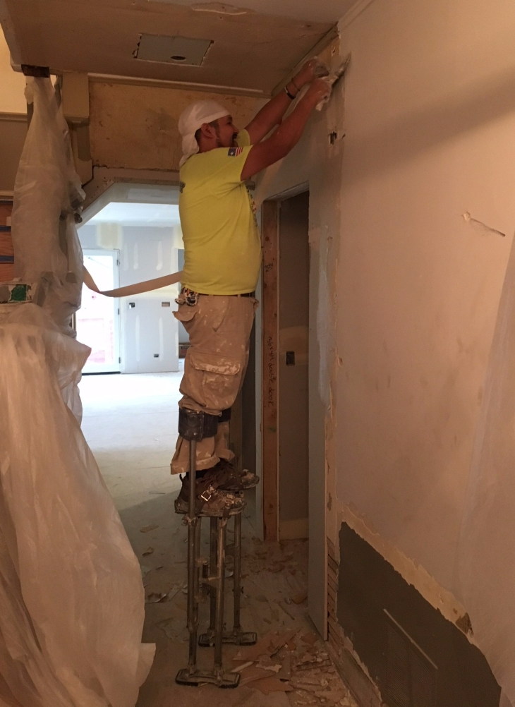 Drywall on stilts